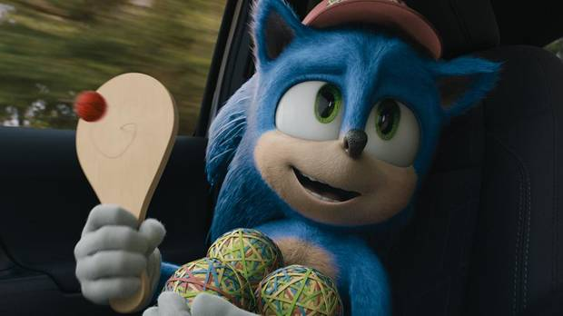 "Sonic (Ben Schwartz) appears in ""Sonic the Hedgehog."" [Paramount Pictures photo]"