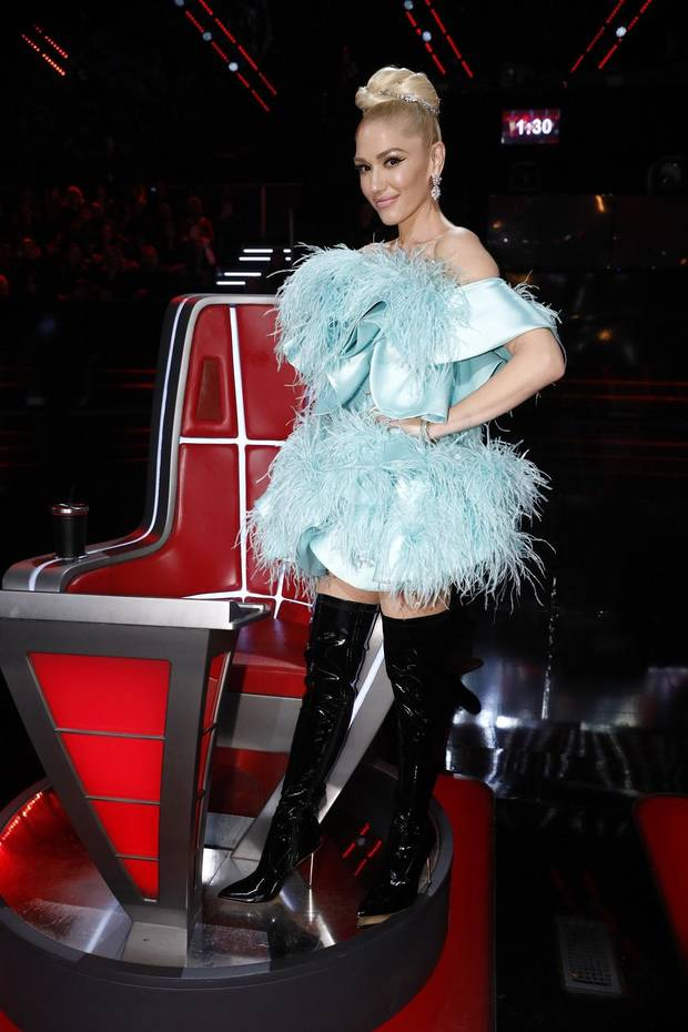 "Gwen Stefani appears on ""The Voice."" [Photo by Trae Patton/NBC]"