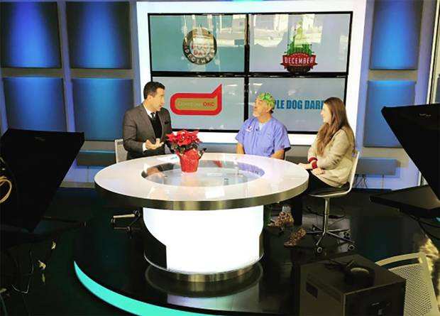 Dr. Leonardo Baez, from Midtown Vets and Staci Sanger, with Downtown OKC, visited the studio this morning to preview this weekend's Midtown and downtown events. Image from Downtown OKC's Instagram account.