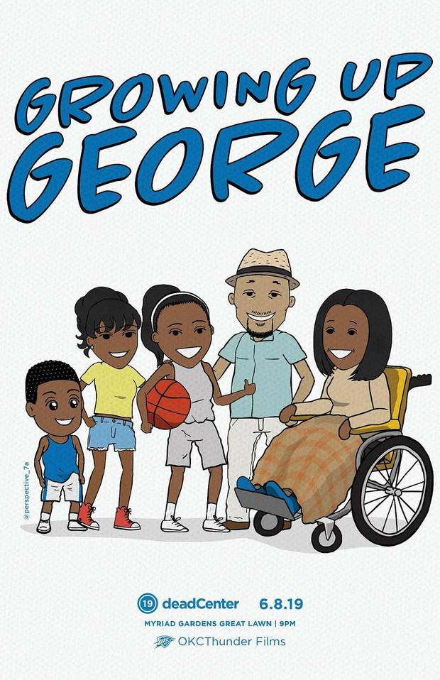 """Growing Up George,"" an animated short film about Thunder NBA All-Star Paul George, will show at the 2019 deadCenter Film Festival. [Poster image provided]"