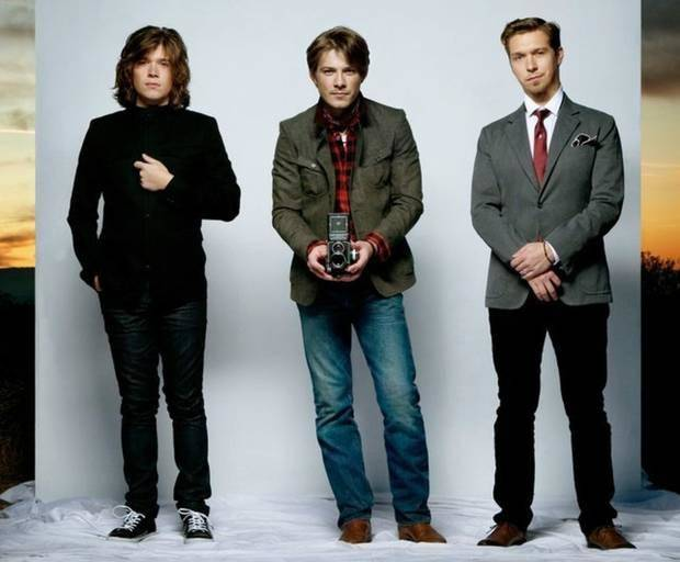 Hanson is, from left, brothers Zac, Taylor and Isaac Hanson. Photo provided