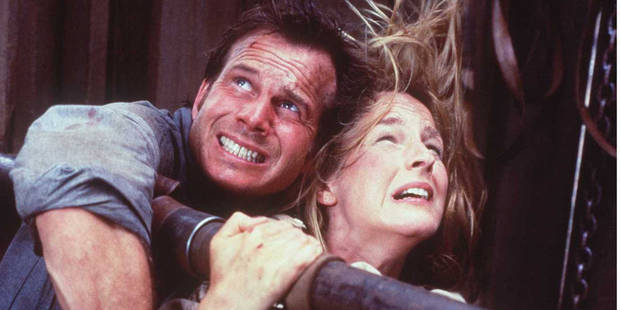 "Bill Paxton and Helen Hunt in a scene from ""Twister."" [Photo provided]"