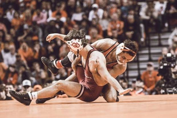 Bedlam wrestling: Cowboys fall behind, but come back strong for runaway victory over Sooners