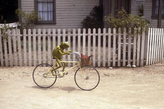 "Kermit the Frog (the late Jim Henson) appears in ""The Muppet Movie."" [Fathom Events photo]"