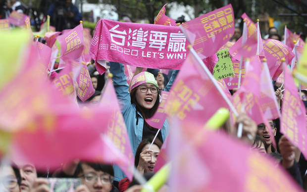 Taiwan's leader reelected as voters back tough China stance