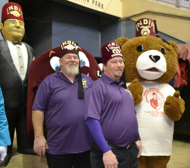 Their famous hats are the signature style of the Shriners. Photo provided by OKC India Shriners.
