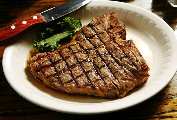A steak is pictured at Cattlemen's Steakhouse. [Photo by Jim Beckel, The Oklahoman]