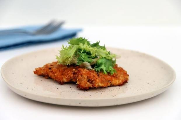 Here's an oven-baked take on chicken Milanese