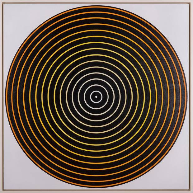 "Tadasky's (Tadasuke Kuwayama) (American, born Japan 1935) 1965 acrylic on canvas work ""C-182"" will be included in the Oklahoma City Museum of Art's upcoming exhibition ""Moving Vision: Op and Kinetic Art from the Sixties and Seventies."" [Image provided]"