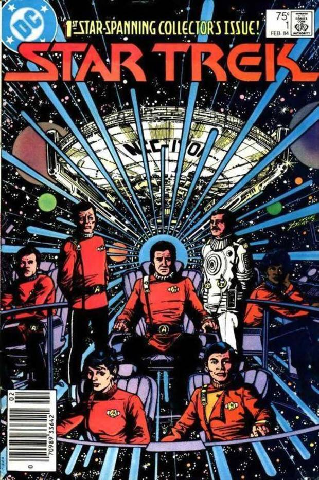 "George Perez provided this cover for the first of DC Comics' ""Star Trek"" adventures. [CBS/Paramount]"