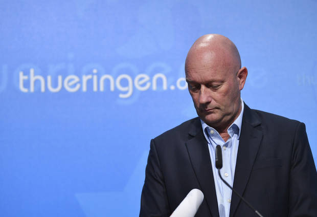 German governor elected with far-right help to step down