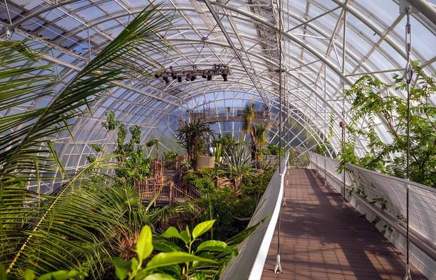 The Crystal Bridge Tropical Conservatory at the Myriad Botanical Gardens in Oklahoma City, Okla., is shown on Thursday, Aug. 20, 2020. [Chris Landsberger/The Oklahoman Archives]