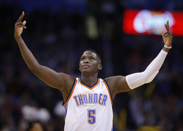 0687e43bf0f Oklahoma City s Victor Oladipo shares the No. 5 with 25 other NBA players
