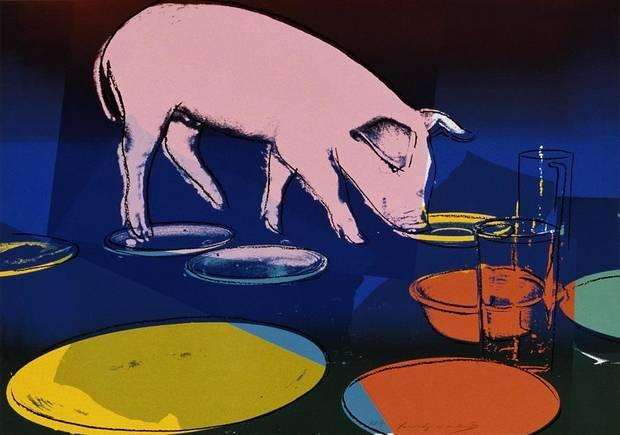 "Andy Warhol (American, 1928–1987)'s ""Fiesta Pig, 1979"" will be featured in the upcoming exhibit ""POP Power from Warhol to Koons: Masterworks from the Collection of Jordan D. Schnitzer and His Family Foundation,"" which will be on view in summer 2020 at the Oklahoma City Museum of Art. [Image provided]"