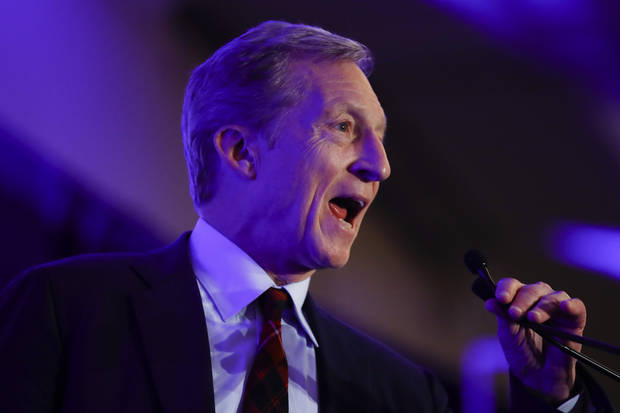 The Latest: New Steyer ad takes direct aim at Sanders, Biden