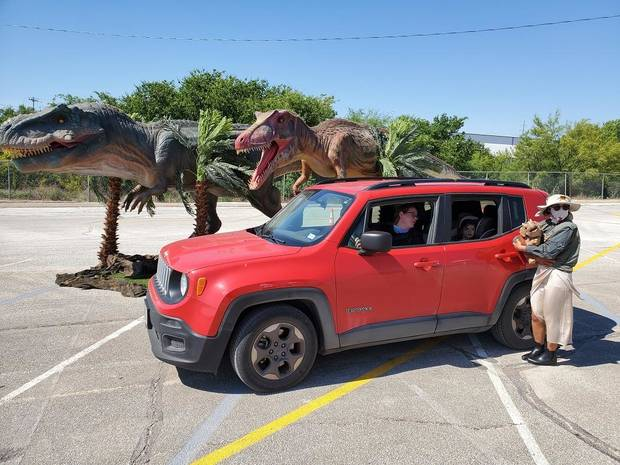 The touring Jurassic Quest Drive Thru attraction is bringing its lifelike animatronic dinosaurs to OKC. [Photo provided]