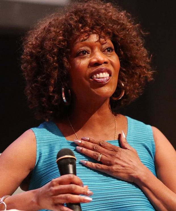 Alfre Woodard, one of the deadCenter Film Festival's 2018 Oklahoma Film Icon Award winners, talks about her life as part of deadCenter in downtown Oklahoma City, Saturday, June 9, 2018. [Doug Hoke/The Oklahoman Archives]