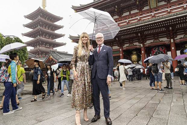 "Heidi Klum and Tim Gunn appear in Tokyo in the hotly anticipated new Amazon Original series ""Making the Cut."" The pair left their previous hit show ""Project Runway"" after 16 seasons to launch ""Making the Cut,"" which offers the winner $1 million to invest in their business and the chance to create a fashion collection that will be available worldwide exclusively on Amazon. [Photo provided]"