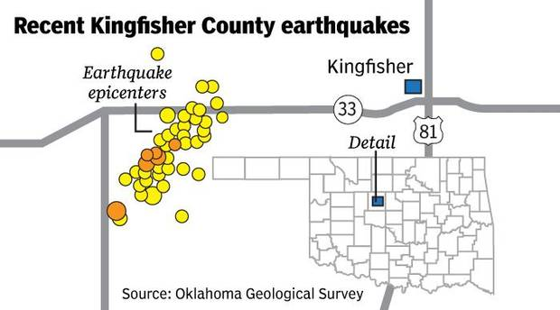 Kingfisher County earthquakes continue, even after fracking work is stopped