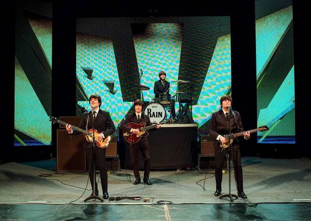 Rain – A Tribute to the Beatles will play three Oklahoma City performances April 26-27 at the Civic Center Music Hall. [Photo by Richard Lovrich]