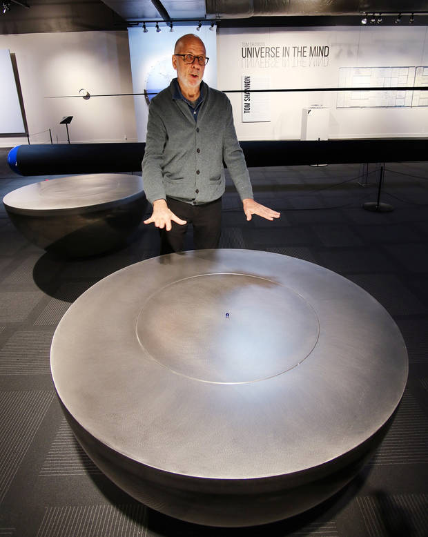 "Internationally known inventor and artist Tom Shannon's exhibit, ""Tom Shannon: Universe in the Mind 