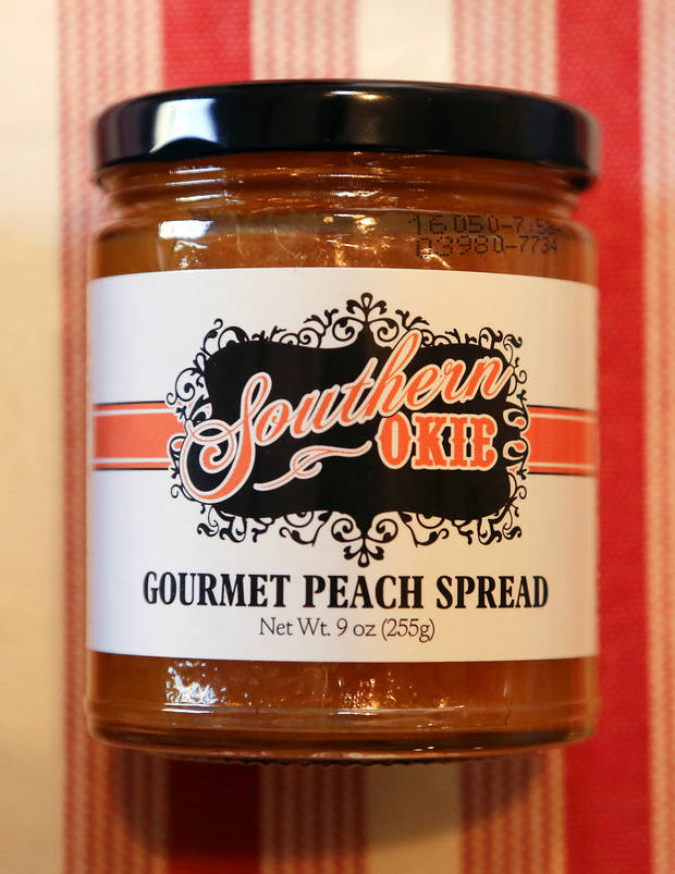Oklahoma based business Southern Okie Spread Gourmet Peach Spread made by Gina Hollingsworth at her home in Edmond, Okla. on Tuesday, March 15, 2016. Photo by Chris Landsberger, The Oklahoman