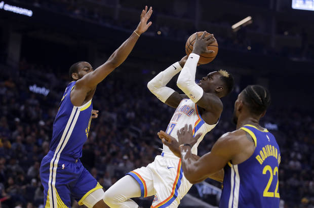 Five takeaways from the Thunder's 100-97 win against the Warriors