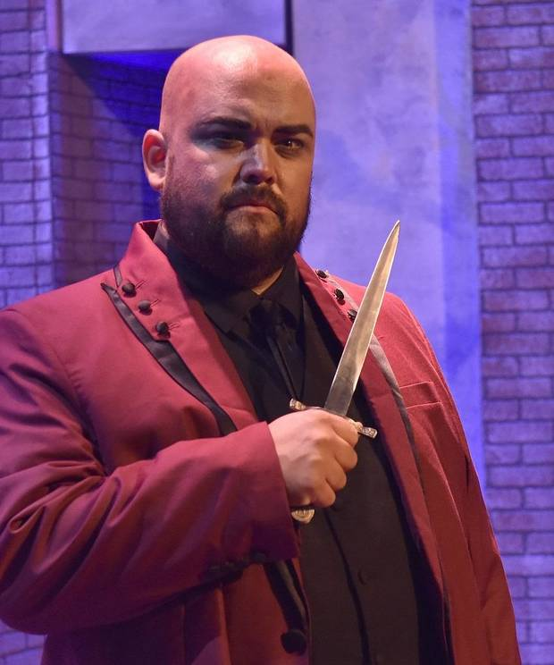 "Jonathan Moots appears in Painted Sky Opera's 2018 production of ""Rigoletto."" He will returned to the Oklahoma City opera company for its 2019-2020 season to appear in the Painted Sky productions of ""The Barber of Seville"" and ""La Serva Padrona."" [Mutz Photography.]"