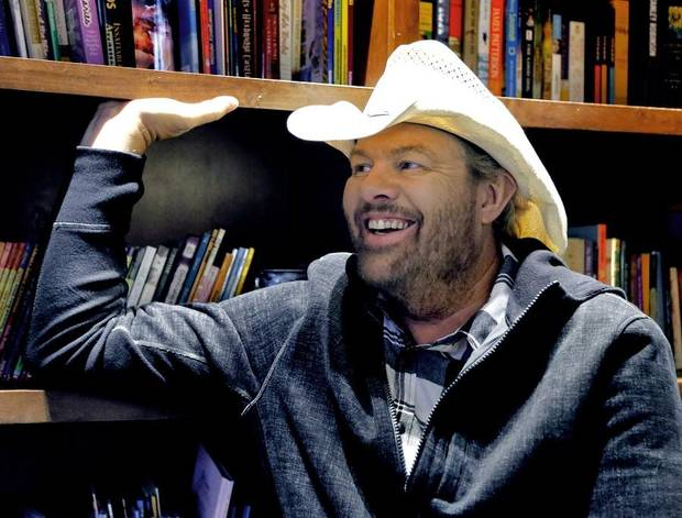 Toby Keith is interviewed at his Toby Keith Foundation's OK Kids Korral on Thursday, Nov. 8, 2018. [The Oklahoman Archives]