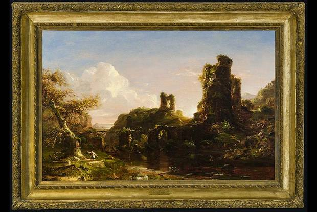 "The Oklahoma City Museum of Art has acquired Thomas Cole's (American, 1801–1848) ""An Italian Autumn,"" an oil on canvas circa 1847. The painting is a museum purchase with funds from the James C. and Virginia W. Meade Collections Endowment, the Meade Acquisition Fund, and the Beaux Arts Society Fund for Acquisitions. Image provided"