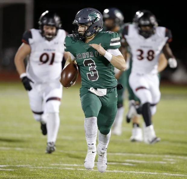 High school football: Edmond Santa Fe beats Norman 42-27 to clinch District 6A-I-1 title