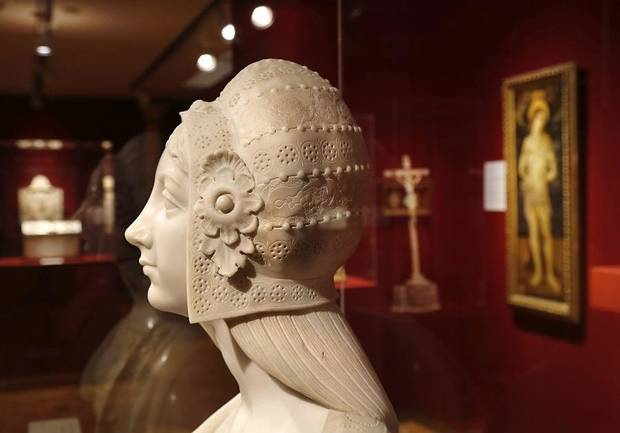 Artwork and artifacts from around the world are displayed at the Mabee-Gerrer Museum of Art Friday, Aug. 9, 2019. The Shawnee museum is celebrating its centennial in 2019. [Jim Beckel/The Oklahoman]