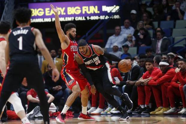 NBA NOTEBOOK: Pelicans spoil Carmelo Anthony's debut as a Trail Blazer