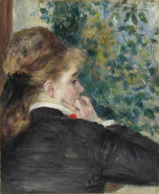 "Pierre-Auguste Renoir's (French, 1841–1919) ""Pensive (La Songeuse) or Day Dreaming"" will be included in the exhibit Van Gogh, Monet, Degas: The Mellon Collection of French Art from the Virginia Museum of Fine Arts,"" which will be on view June 22 through Sept. 22, 2019, at the Oklahoma City Museum of Art. [Image provided]"