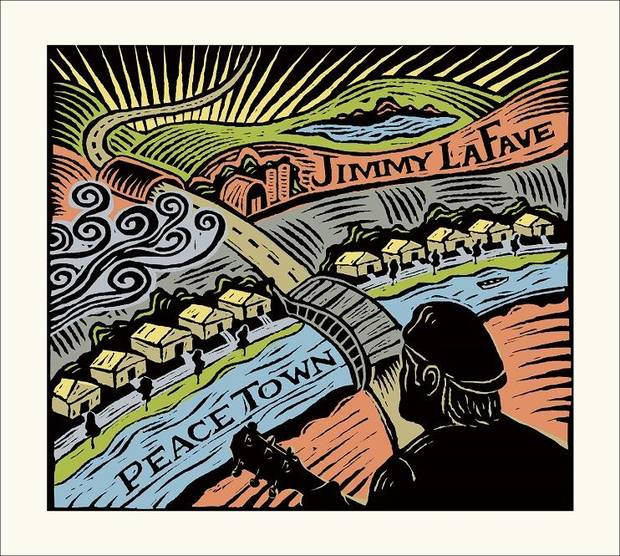 """Peace Town,"" the collection of final recordings on Music Road Records made by iconic singer, songwriter and song interpreter Jimmy LaFave, is out today. Album cover art provided"