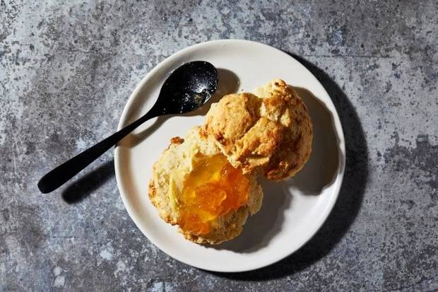 Cream of the drop: Recipe yields tender biscuit