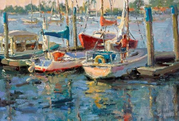 "A detail is shown of Joan Marron-LaRue's 2007 painting ""Newport Patriots,"" included in the exhibit ""Between the Isms: The Oklahoma Society of Impressionists and Selected Oklahoma Expressionists"" at the Fred Jones Jr. Museum of Art in Norman. [Image provided]"