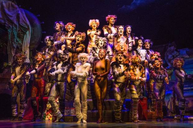 "The company of ""Cats"" performs. [Photo by Matthew Murphy]"