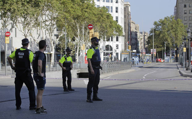 Spain's El Pais newspaper: Barcelona police treating van incident as a terror attack