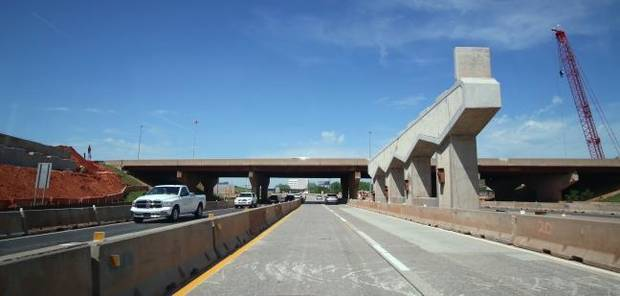 Motorists on I-35 and I-235 should expect traffic snarls
