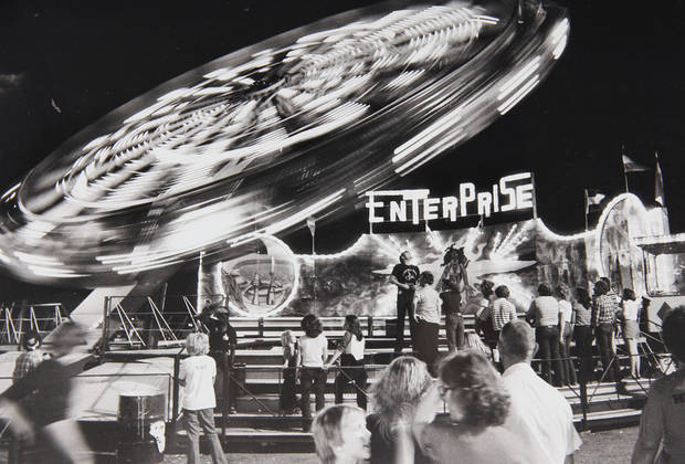 The Enterprise ride in the early 1970s.