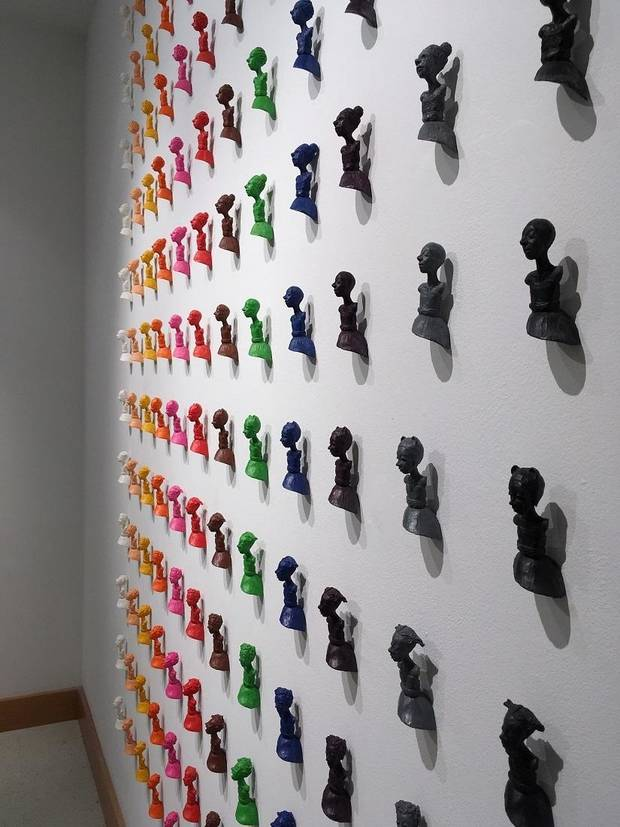 "Oklahoma artist Holly Wilson's art installation ""Under Our Skin, Girls"" is included in the exhibit ""Beautiful Minds: Dyslexia and the Creative Advantage"" inside Science Museum Oklahoma. [Photo provided]"