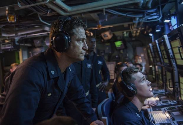 "Gerard Butler appears in a scene from ""Hunter Killer."" Lionsgate photo"