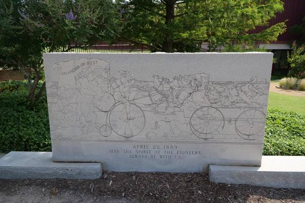 Oklahoma City Community College announced today that it has removed a controversial monument depicting the Oklahoma Land Run of 1889 from its campus. [Photo provided]