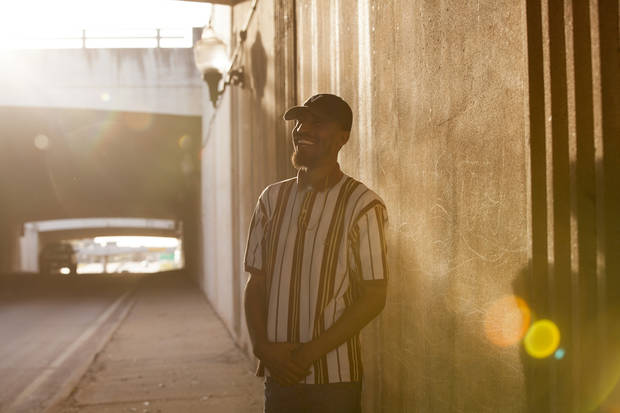 Oklahoma City-based rapper Ronnie Johnson released the top streamed Okie track debut on NewsOK. [Photo by Nathan Poppe, The Oklahoman]