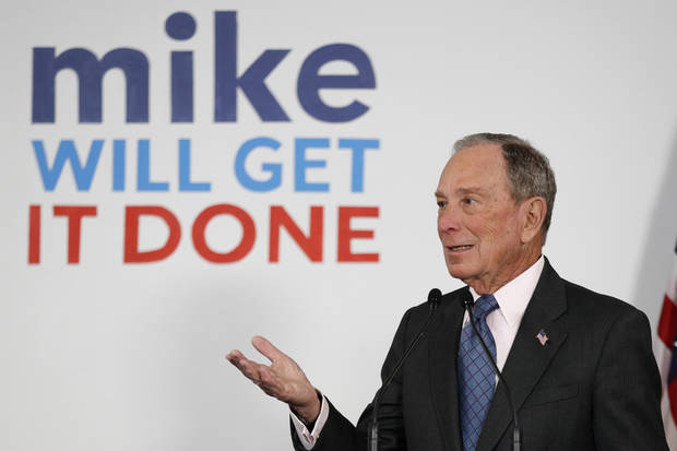 The Latest: Bloomberg says he's prepared to take on Trump