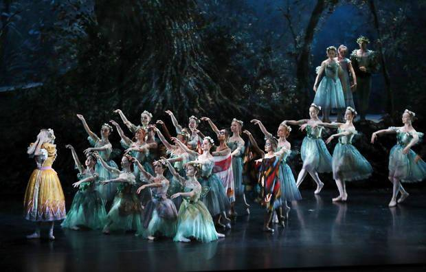"Oklahoma City Ballet dancers perform ""A Midsummer Night's Dream"" for hundreds of schoolchildren from across the state April 24 at the Civic Center Music Hall as part of the ArtsReach program. Photo by Jim Beckel, The Oklahoman"