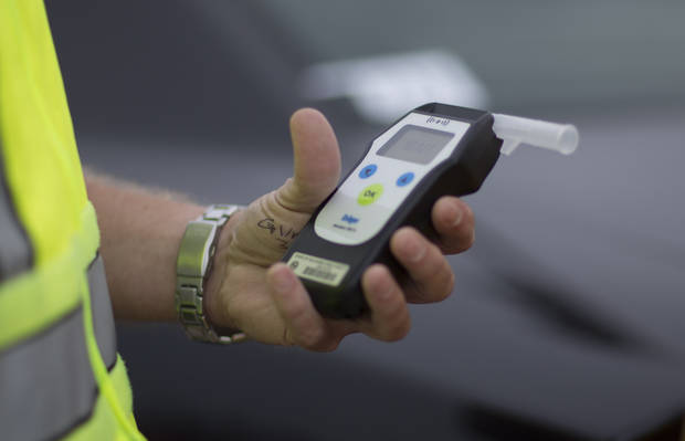 The breathalyzer is part of a routine stop if alcohol-use is suspected. Photo: J Pat Carter