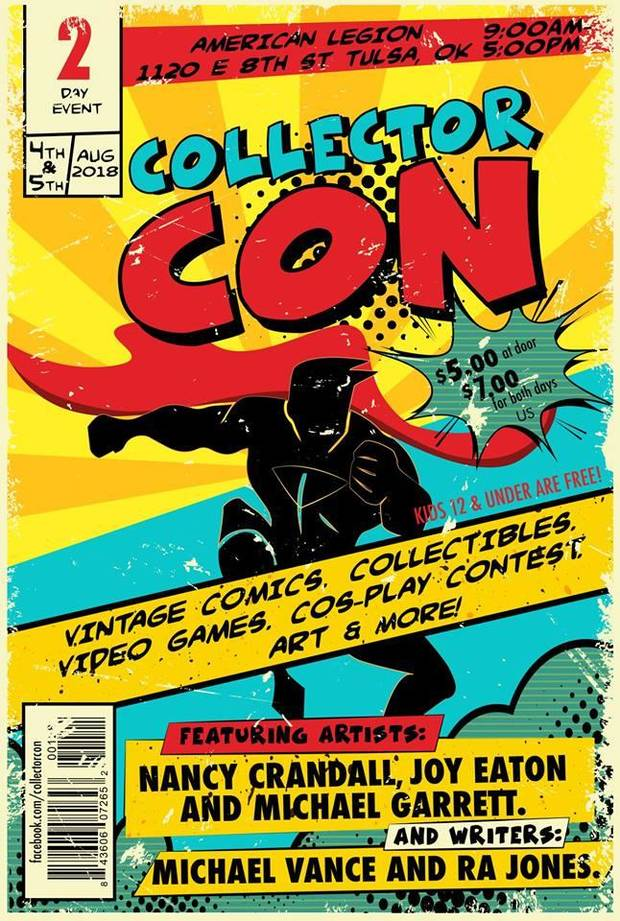 Collector Con is set for Saturday and Sunday in Tulsa.