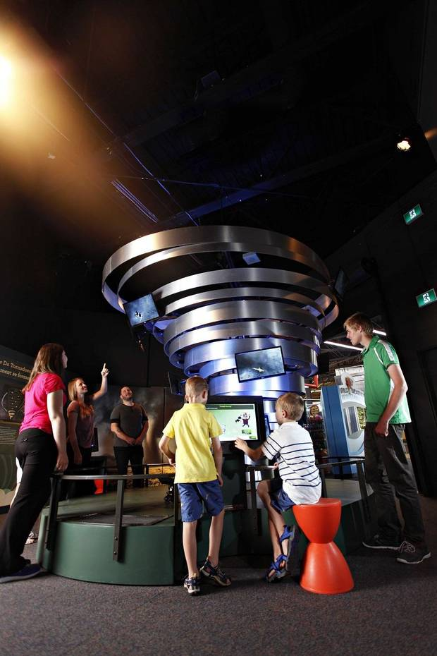 "The science of thunderstorms, heat waves, hurricanes and more is up for exploration at Science Museum Oklahoma as part of ""Wild Weather,"" a temporary exhibition available through Labor Day. [Photo provided]"